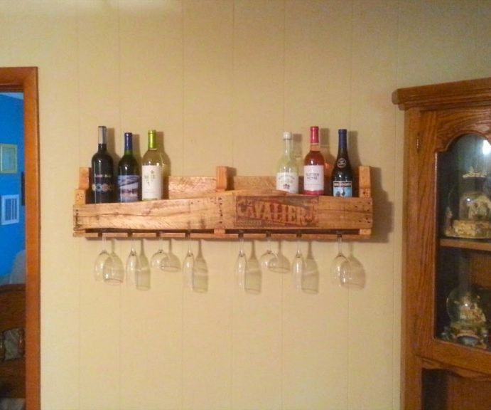 Lovely How to Pallet Wine Rack