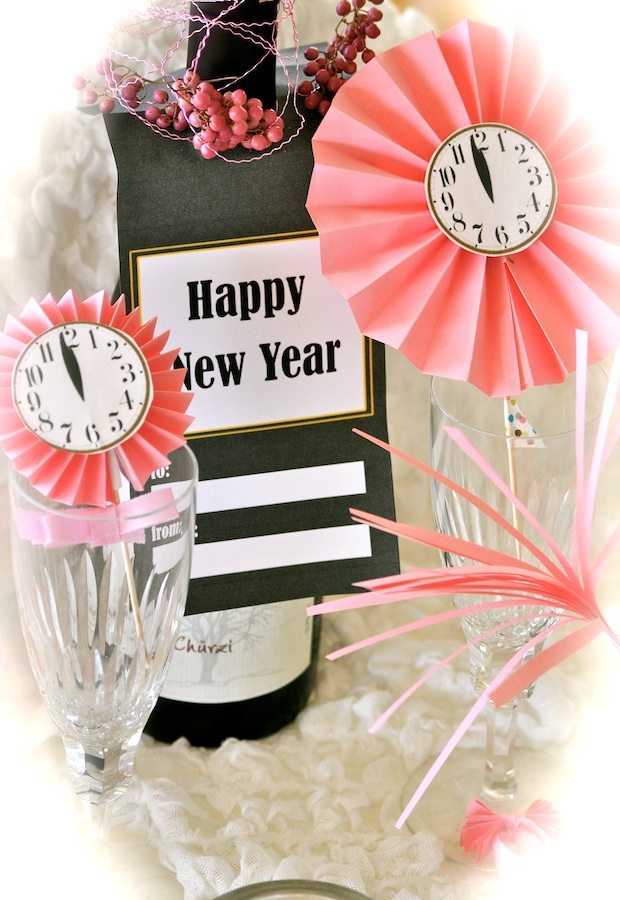 Yummy Art Café: ✩ Happy New Year! ✩ DIY decoration ideas and freebies – Ideen für Silvester