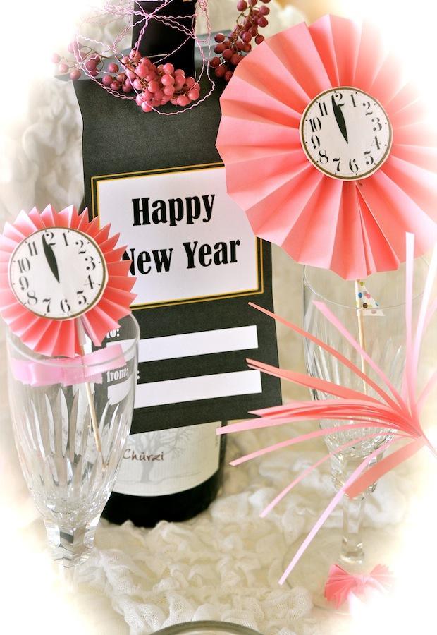 Yummy Art Café: ✩ Happy New Year! ✩ DIY decoration ideas and freebies – Ideen für Silvester