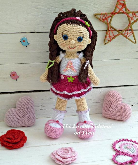 PATRÓN muñeca Andy ganchillo patrón patrón por CrochetfromYvett