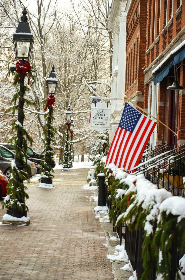 Litchfield Connecticut -Iconic... in winter www.litchfieldhills.com