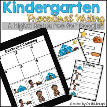 Kindergarten Procedural Writing by Cori Blubaugh   Teachers Pay Teachers
