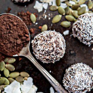 Chocolate Coconut Macadamia Energy Balls