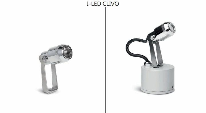 I-LED CLIVO med justerbar spridningsvinkel. Finns med inbyggt don. Vägg eller markspett. Krom. Finns i olika färgtemperaturer. Tillverkare Linealight