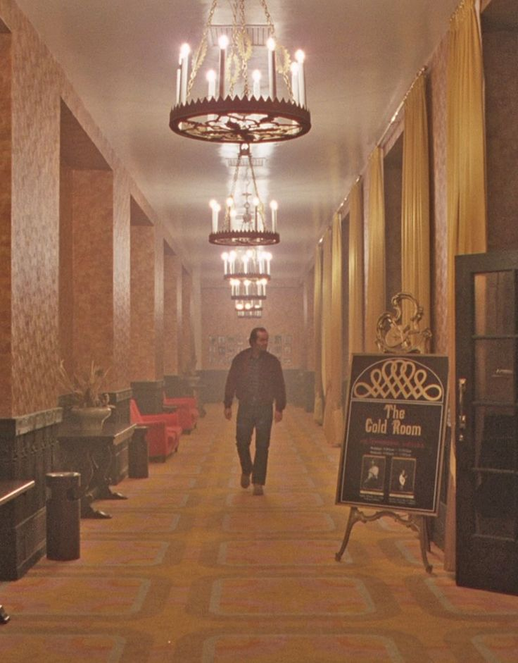 The gold room from The Shining ooooo scurry!