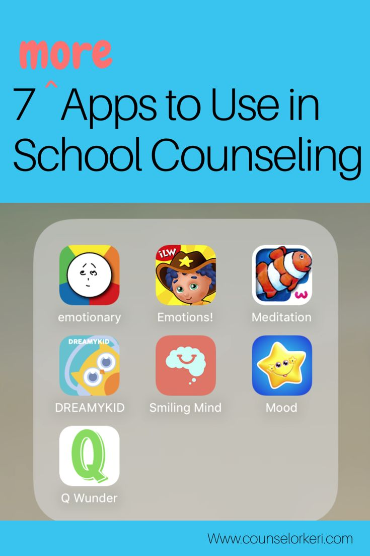 These 7 apps for iPhone are perfect for school counseling! Use these apps to work with students who struggle to calm their bodies or identify feelings. These are great for meditation practice, mood tracking, building emotional intelligence, and practicing social skills.