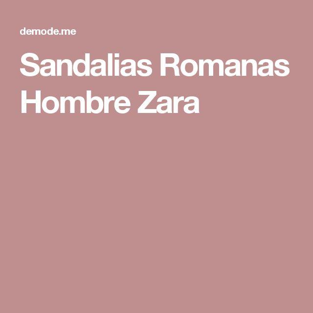 Sandalias Romanas Hombre Zara