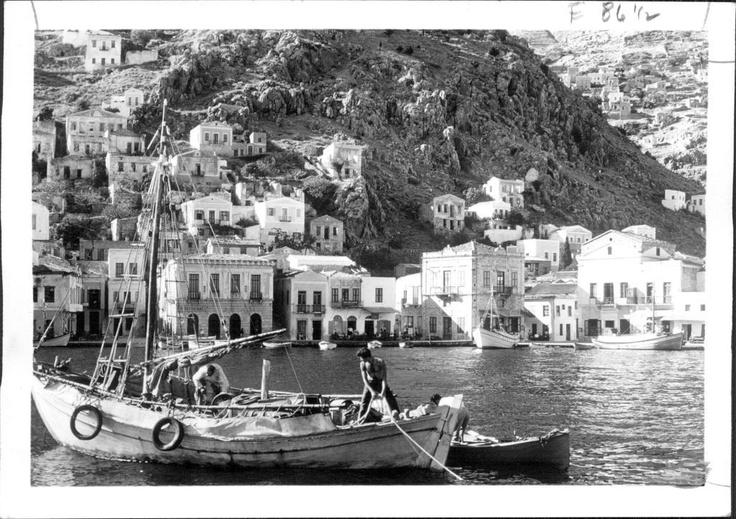 1966 Symi: Island of Steep, Rocky Hills, Press Photo | eBay