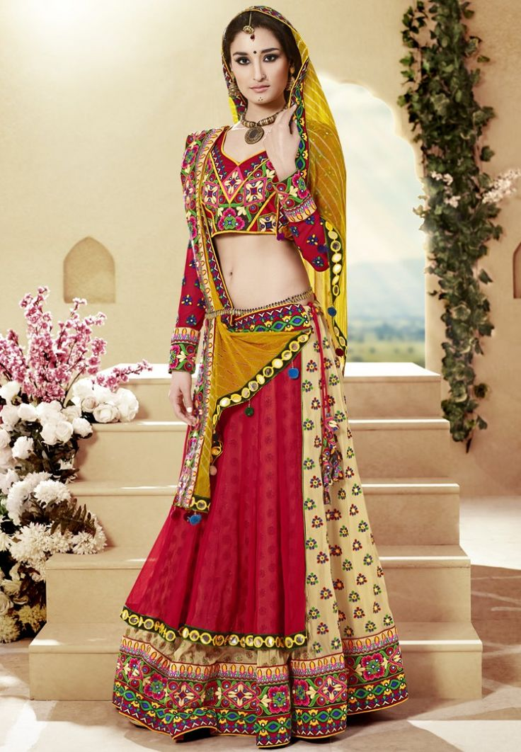 Red Embroidered Lehengas at $296.02 (24% OFF)