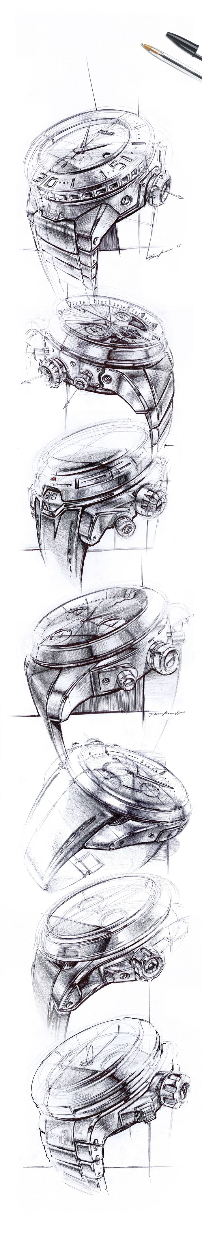 BIC Sketchbook - Watches on Behance