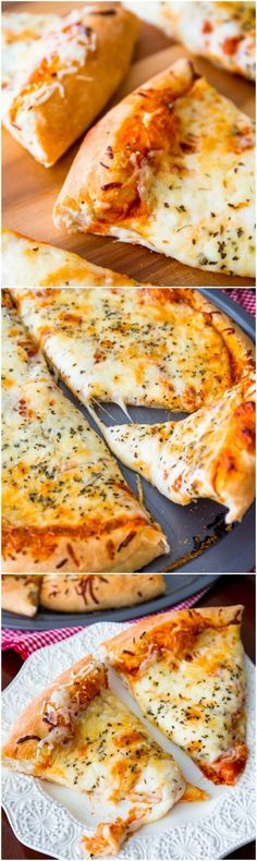Absolutely delicious homemade extra cheese pizza with my go-to homemade, extra thick pizza crust!