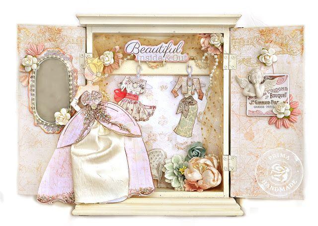Selos Prima Julie Nutting boneca e princesa Coleção de Jodie Lee - Alterou armário Princesa Armário (Colar Closet)