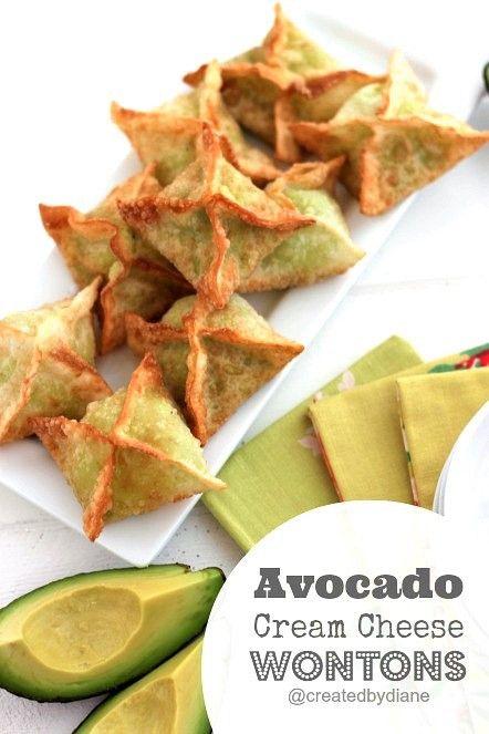 Avocado Cream Cheese Wonton Recipe