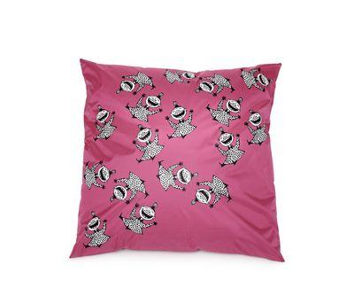 Hauska sisustustyynynpäällinen tuo pirteyttä sohvalle tai lastenhuoneeseen. Kätevä pyyhittävä pinta hylkii likaa ja vettä ja sopii myös terassille.  http://www.ihanaiset.fi/fi/Sisustus/5/Sisustustyynyn+p%C3%A4%C3%A4llinen%2C+Pikku+Myy+pinkki+50%2A50cm/255