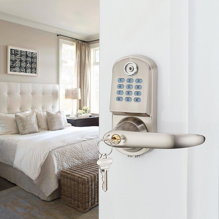 Home Security Electronic Digital Code Keyless Keypad Entry Door Lock ID Reader password code spring bolt OS8015TM To be able to lock internal doors