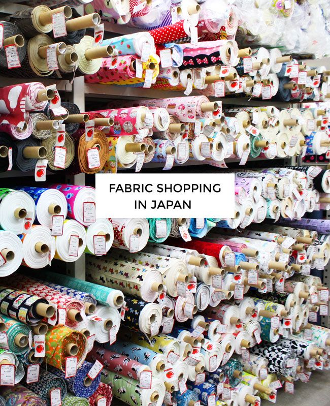 Fabric Shopping in Japan. Beautiful pictures and great article from Tilly and the Buttons