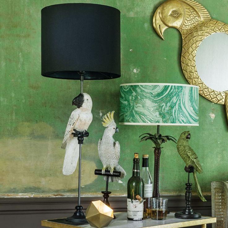 White Parrot Lamp