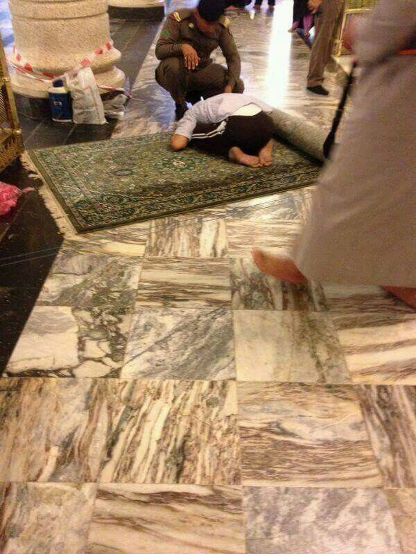 A young boy who has died in sujood  at the masjid al haram Inna lillahi wa inna illahi rajioon