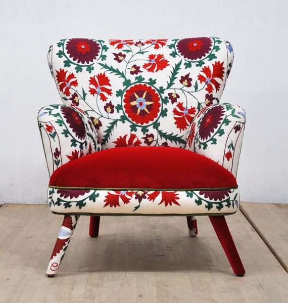 Suzani Armchair  August by namedesignstudio on Etsy