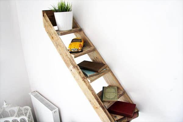 Pallet Stair Shelf