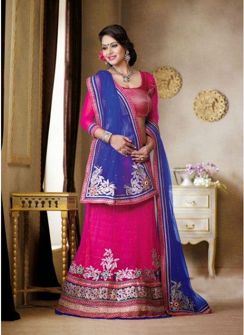 Magnificient Pink color Net Based #Lehenga Choli