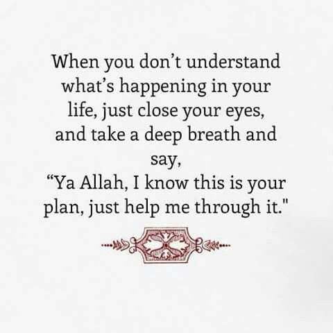 Subhanallah it actually works and very uplifting, because it's as if your are surrendering to Allah s.a.w. You put everything in the hands of Allah!