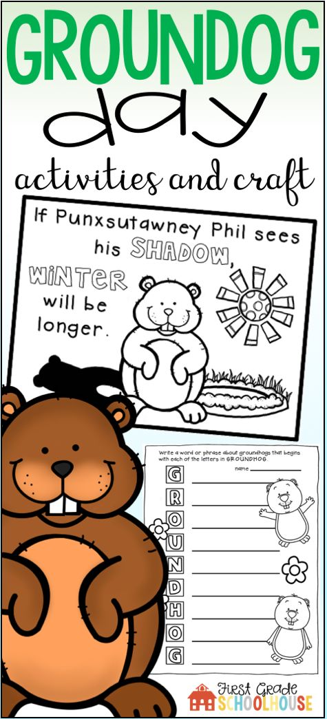 Groundhog Day Activities and Craft includes informational posters, a booklet, printables, and a craft. Students take a Punxsutawney Phil survey to predict if he will see his shadow. They use the poster and booklet to learn about the February 2nd holiday. It includes whole class and independent printables, graphic organizers, and informational and creative writing.