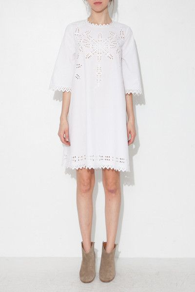 ÉTOILE WHITE DOMINO DRESS