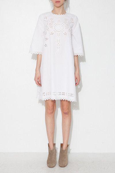 ÉTOILE WHITE DOMINO DRESS
