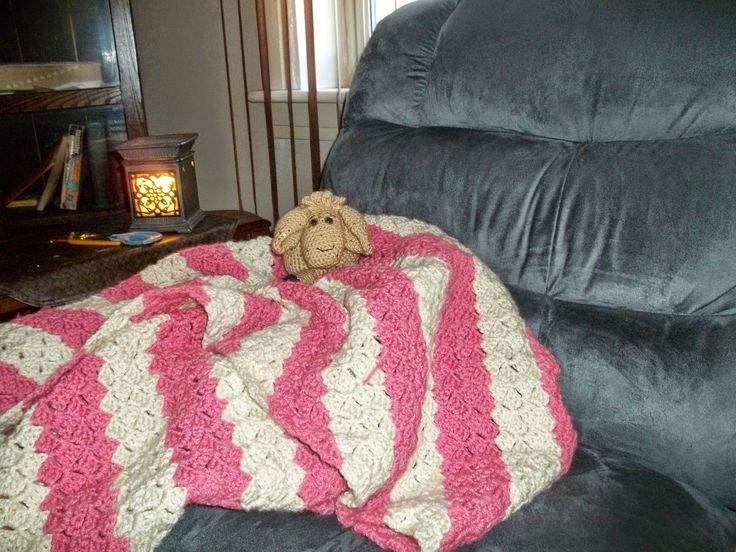 C2C (corner to corner blanket) With Lamb staying warm. Lamb pattern is a premium pattern, by Mama Jo's Inspired by Love.