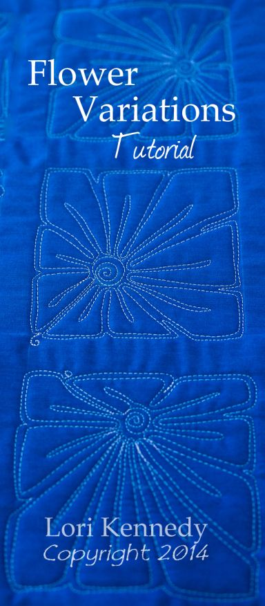 Tutorial, Free Motion Quilting Flowers Lori Kennedy @ The Inbox Jaunt