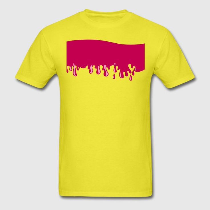 a line of slime dripping T-Shirts - Men's T-Shirt