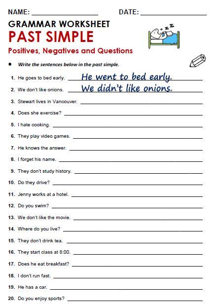 Worksheets Tense Verbs Present Simple