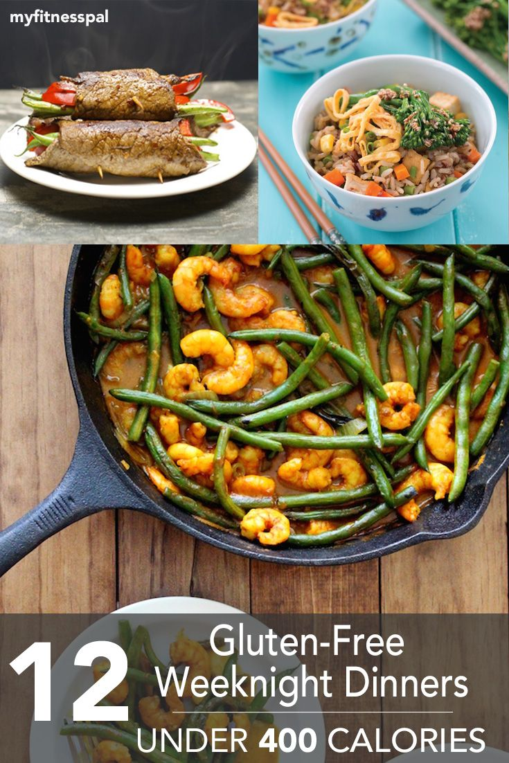 Here are our 12 favorite gluten-free weeknight dinners--all under 400 calories!
