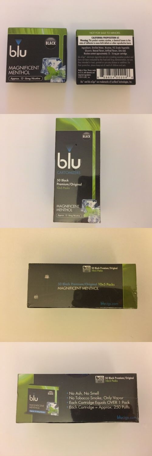 Other Smoking Cessation: Blu Cig Black Cartomizers Refills High Premium Original Magnificent Menthol -> BUY IT NOW ONLY: $100 on eBay!