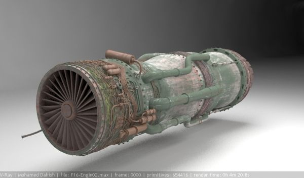 F-16 Jet Engine by M. Dahish, via Behance