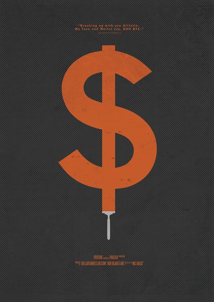 Dollar Shave Club Viral Video Movie Poster from Retina Burn Blog http://www.retinaburnblog.co.uk