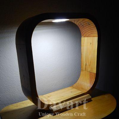 Miniatur Menara Lampu Kayu Lampu Tidur