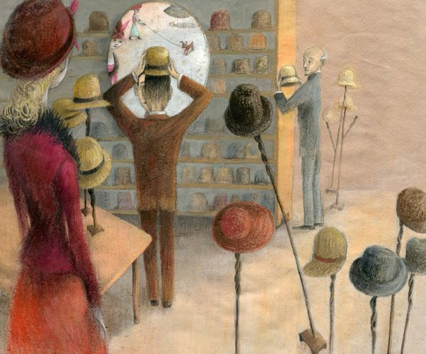 "Eva Montanari illustration for ""Santos Dumont""."