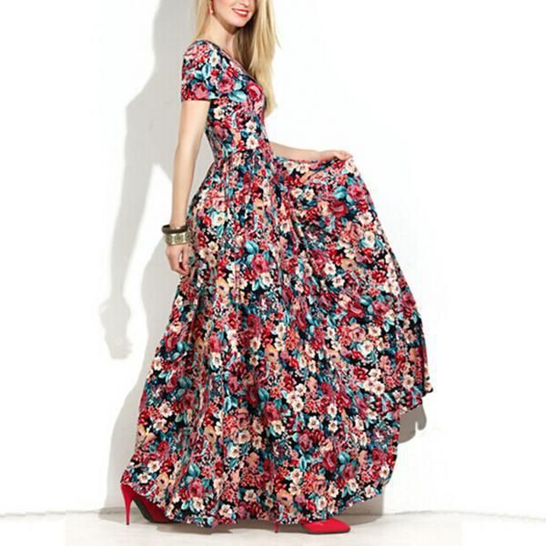 Womens Floral Maxi Dress Spring 2016