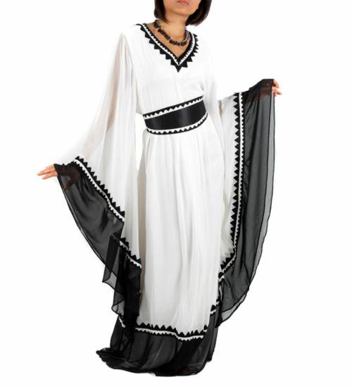Black/White abaya