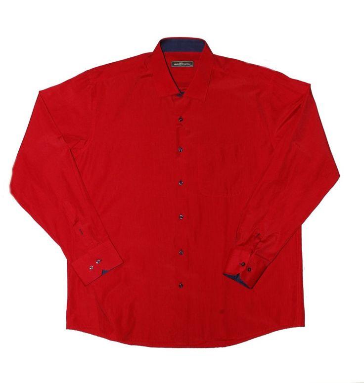 Красная рубашка в полоску