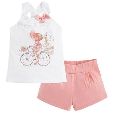 Conjunto de short y camiseta Peach