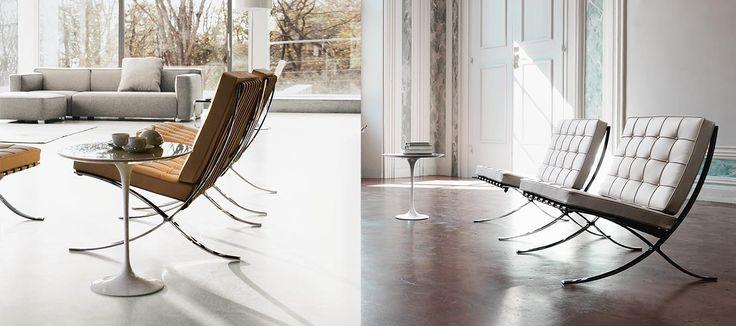 Barcelona Chair Knoll Saarinen tafel