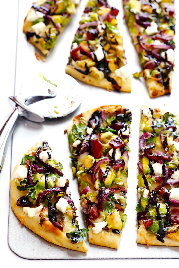 This Brussels Sprouts and Bacon Flatbread Pizza recipe is quick and easy to make, and packed with bold flavors that everyone will love!
