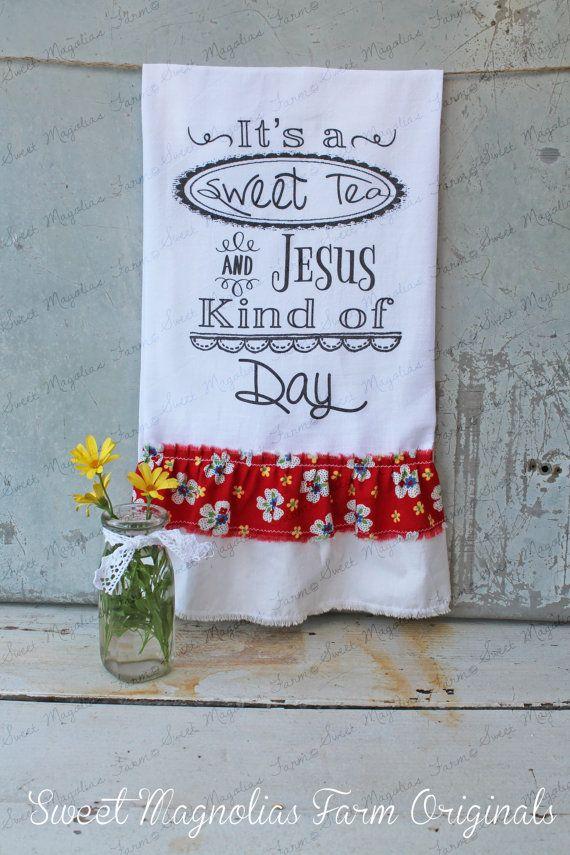 Flour Sack Kitchen Towel... Farmhouse Style by SweetMagnoliasFarm, $18.50  New Design