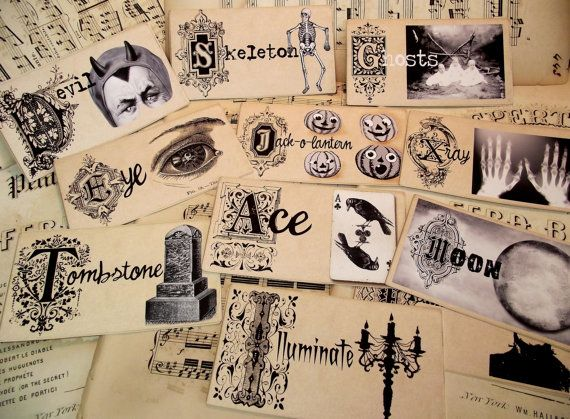 Halloween Flashcards A to Z by BlissfullElements on Etsy, $22.00