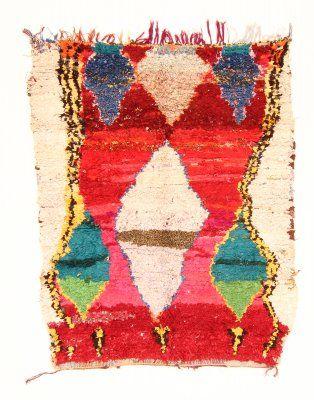 Marokkaanse Berber tapijt Boucherouite 190 x 140 cm