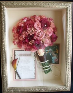 Art Use A Shadow Box To Keep Your Bouquet Invitation Pictures Etc From Wedding Day Need Find Or Three Cool Ideas