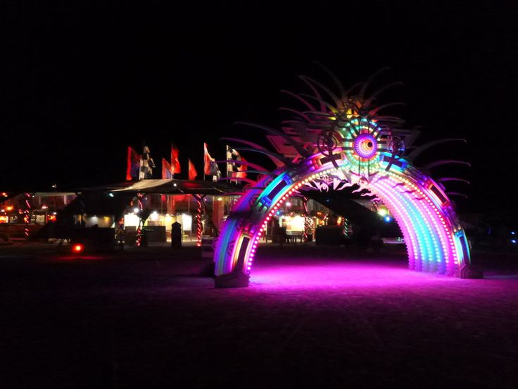 Burning Man 2012 Dates | Burning Man 2012 - Center Camp Archway by Starjuice